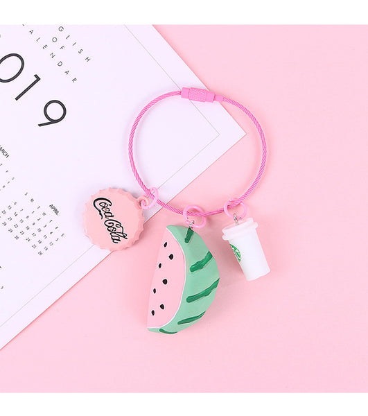 Cute Fruit Cartoon Keychain