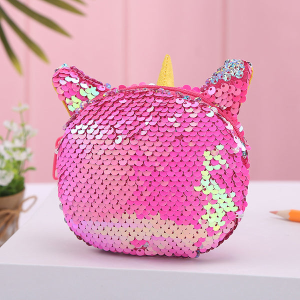 Unicorn Sequin Coin Purse