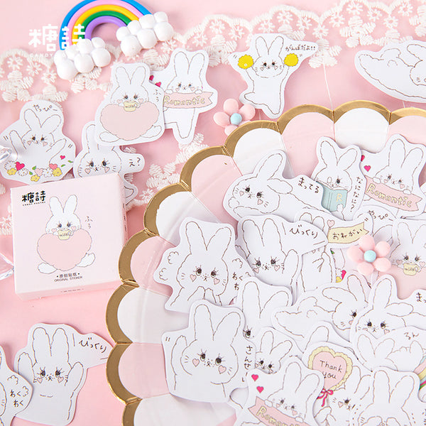 Cream Rabbit Sticker