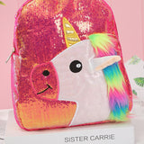 Sequin Rainbow Unicorn Backpack