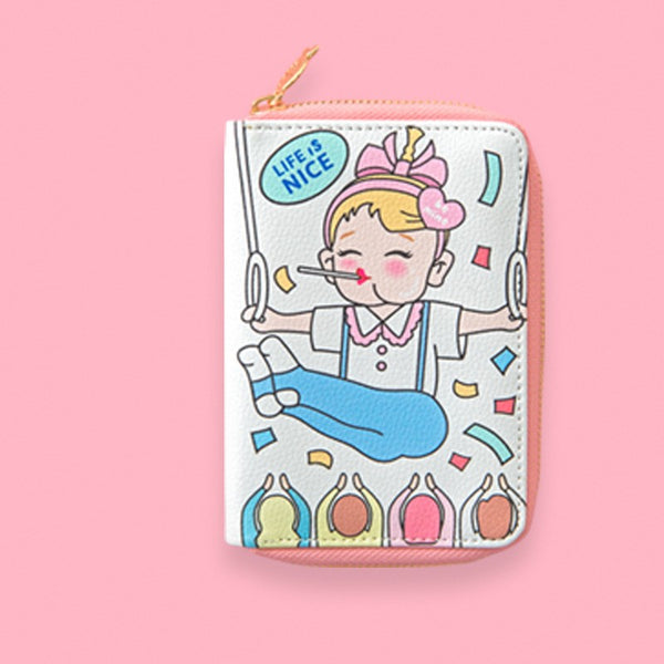 Bentoy stick cartoon short wallet