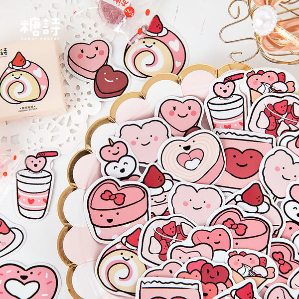 Pink Cute Dessert Stickers