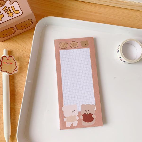 Chocolate Bear Sticky Notes
