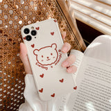 Cute Bear Knot Bow Phone Case