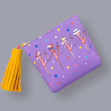 Milkjoy Strange Uncle  Capacity  Tassel Wallet