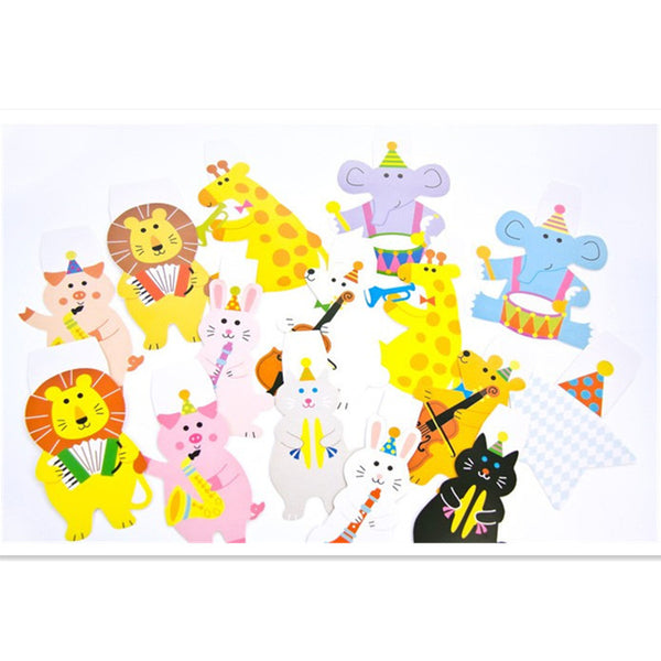 Bentoy Cartoon Animal Bunting Birthday Party Accessories