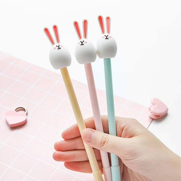 White Bunny Gel Pen-2pcs