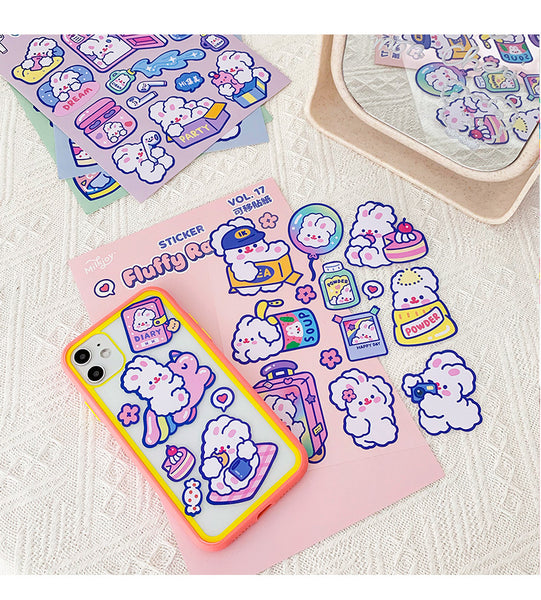 Fluffy Rabbit Stickers