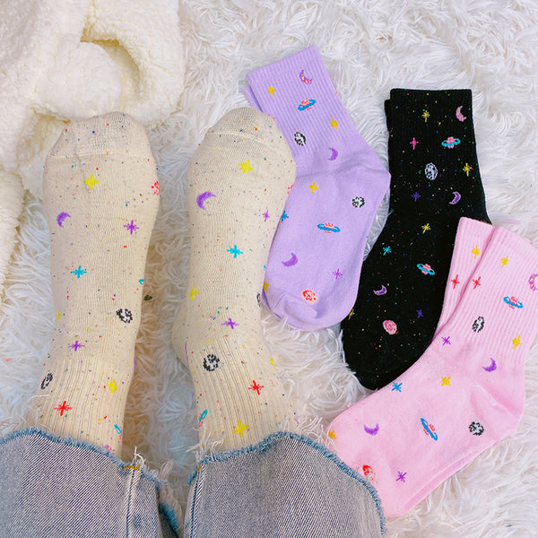 Moon Planet Socks