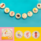 Bentoy Cute Animal Party Colored Flags