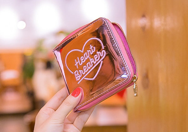 Bentoy Heart Breaker Lady Zipper Short Wallet