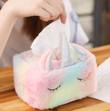 Kawaii Plush Unicorn Tissue Box