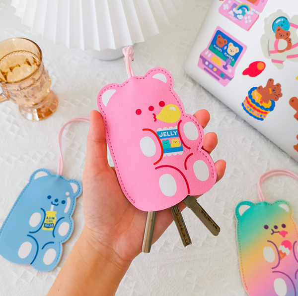 Milkjoy Cute Gummy Bear Key Case