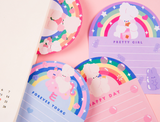 Fluffy Rainbow Cute Rabbit Memo Pad