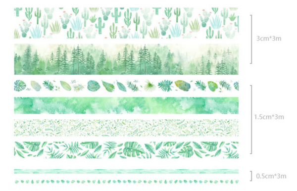 Rainforest Washi Tape Set