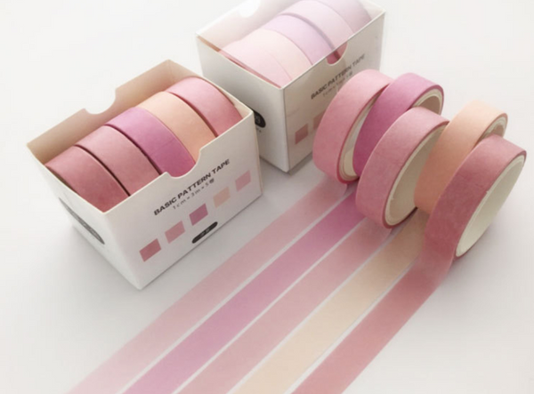 Basic Pink Washi Tape Set