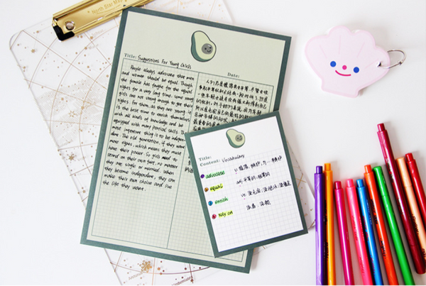Avocado Flower Memo Pad