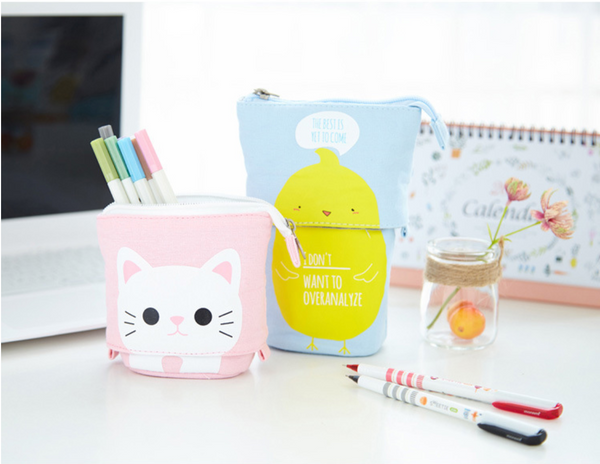 Kawaii Pets Stand-Up Pencil Case