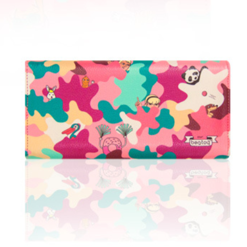 Bentoy Pink Camouflage Fashion Purse