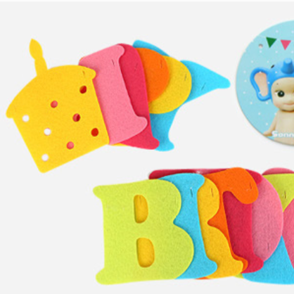 Bentoy Birthday Letter Color Flag