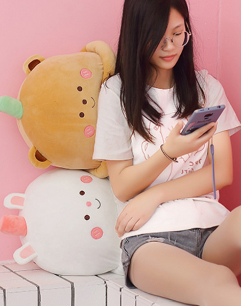 Milk Tea Plush Doll Pillow