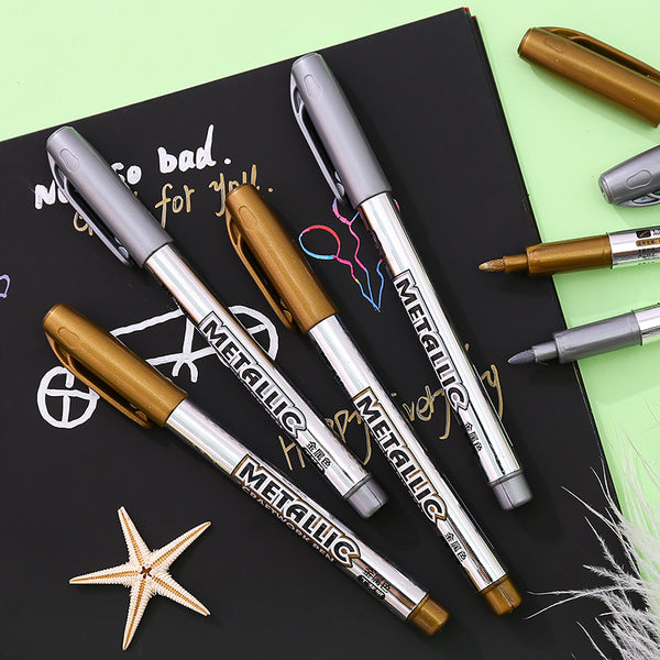 Metallic Shade Brush Pen-2pcs