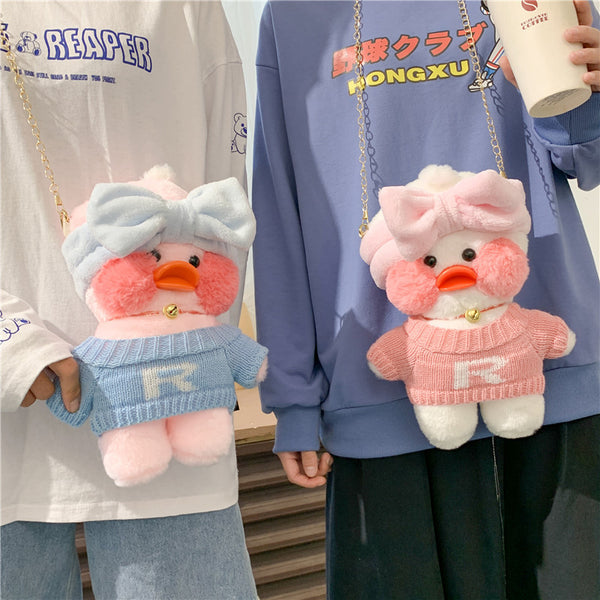 Kawaii Duck Plush Shoulder Bags
