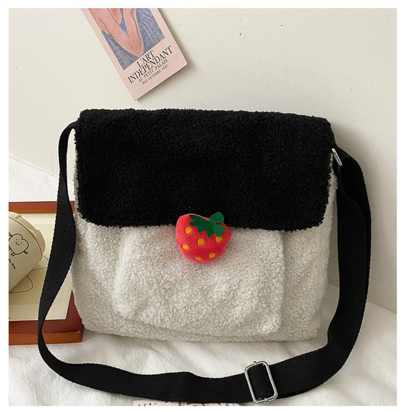 Strawberry Plush Shoulder Bags