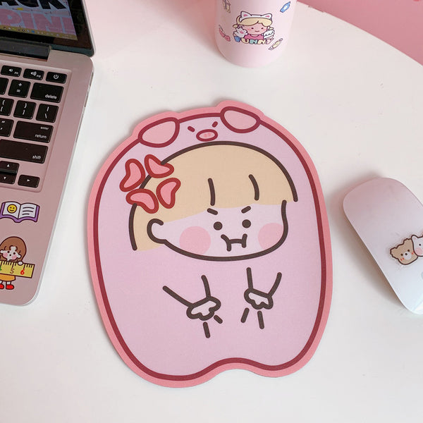 Interesting Girl Mouse Pad