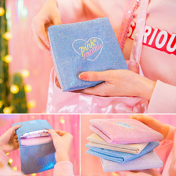 Bentoy folded square heart sanitary napkin bag