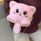 Kitten Plush Chain Bag