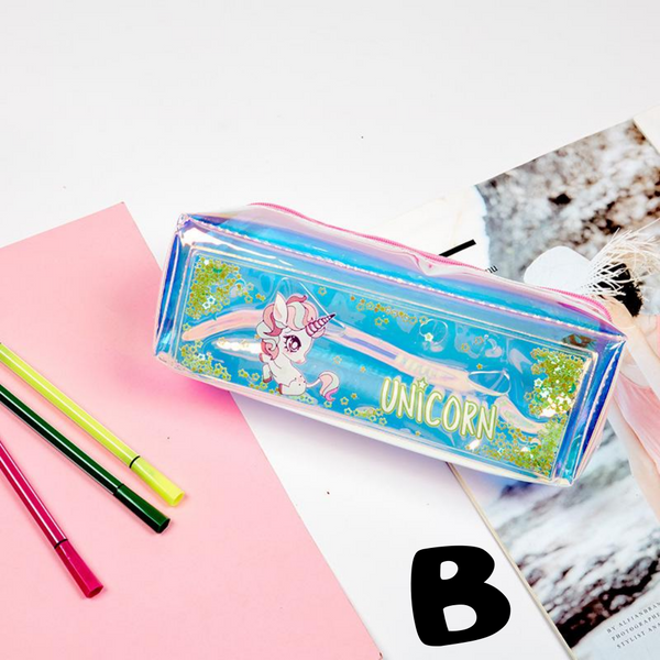 Unicorn Quicksand Student Pen Case
