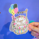 Cartoon greeting card 4PC