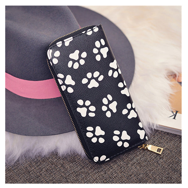 Dog Paw Smiley Wallet