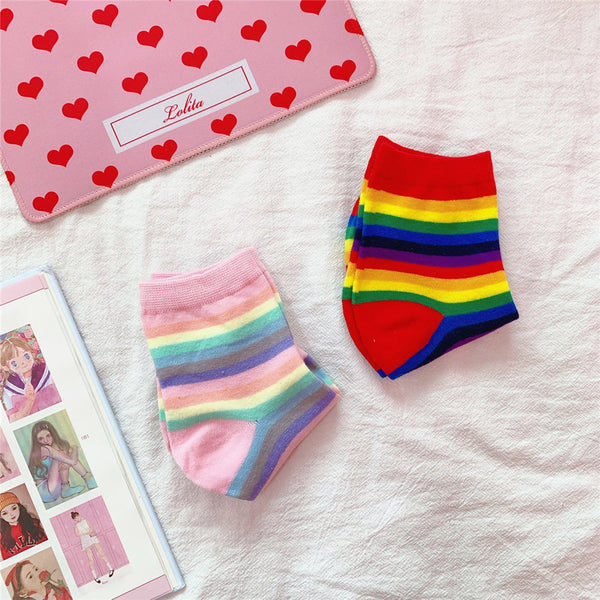 Rainbow Striped Socks