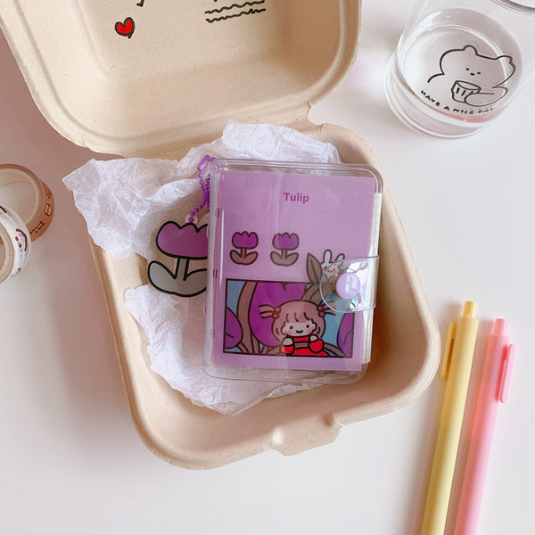 Girl And Bunny Mini Notepad