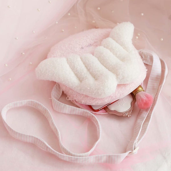Angel Wings Plush Backbag