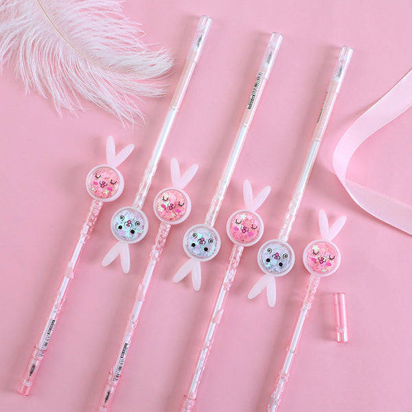 Sequin Bunny Gel Pen-2pcs