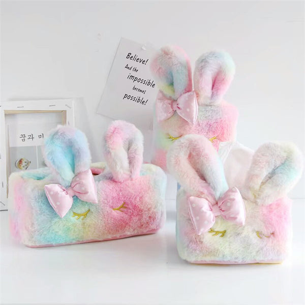 Kawaii Bow Rabbit Tissue Box