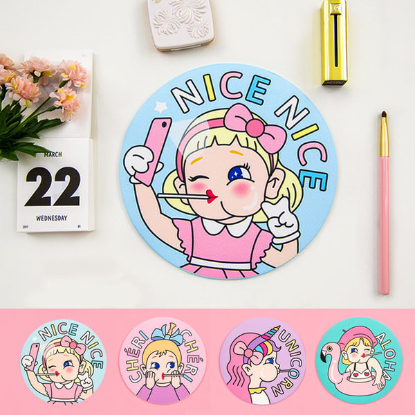 Bentoy Lollipop Girl Round Mouse Pad