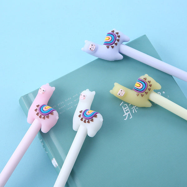 Smile Alpaca Gel Pen-2pc
