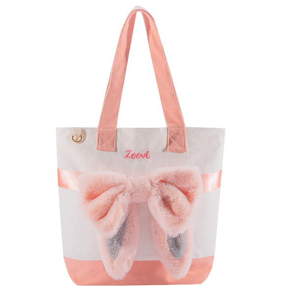 Zeevi Bow Canvas Tote Bag
