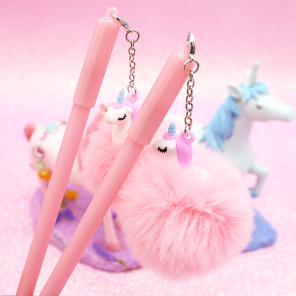 Unicorn Plush Gel Pen