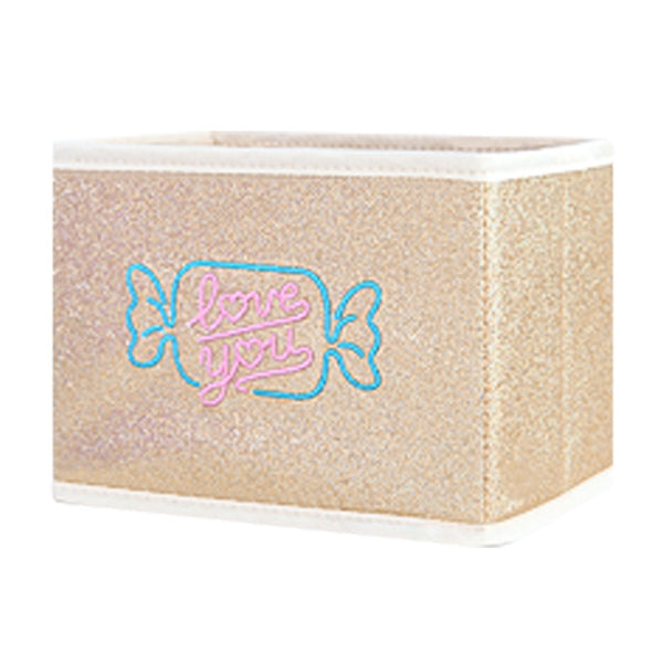 Bnetoy Pinkycolor Embroidered Storage Box