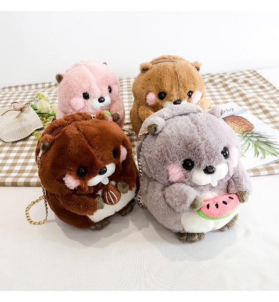Hamster Plush Chain Bag