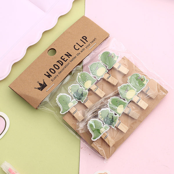 Jelly Cute Wooden Clip Set
