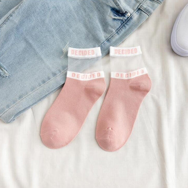 Letter Casual Short Socks