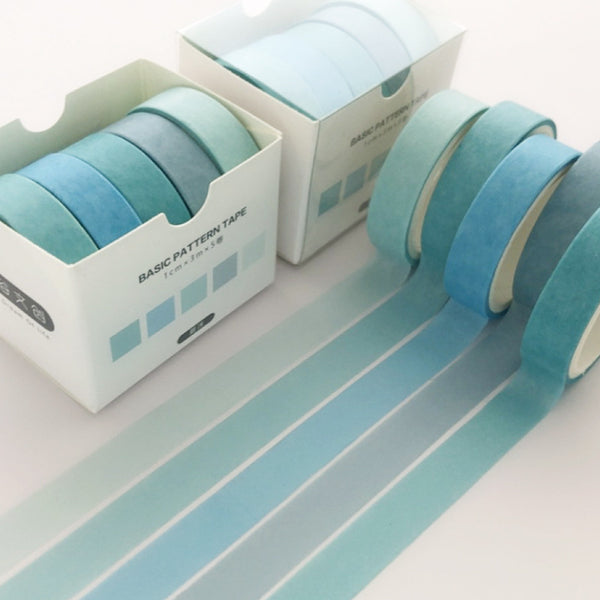 Basic Blue Washi Tape Set