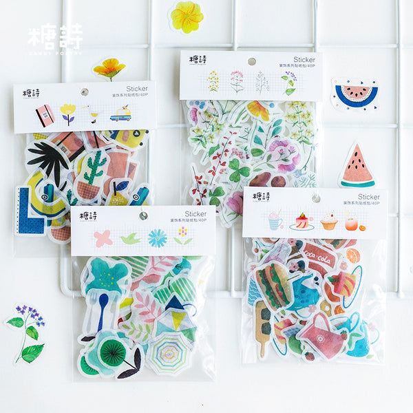 Cute Nature Plant Stickers