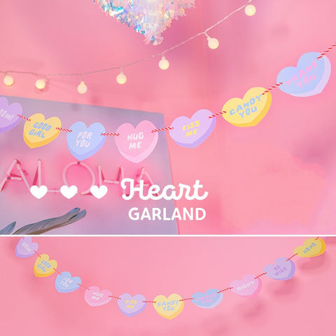 HEARTME Peach Heart Valentine's Day Bunting